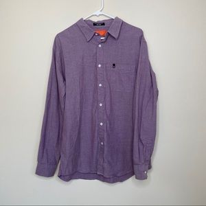 Matix Purple Long Sleeve Button Down Cotton Shirt